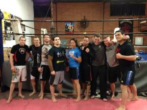 A photo pf the team from the first night of training