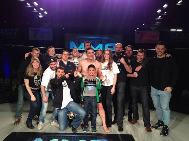 Team Trinity Celebrates After Mike Turner's Win at MMA Down Under 7